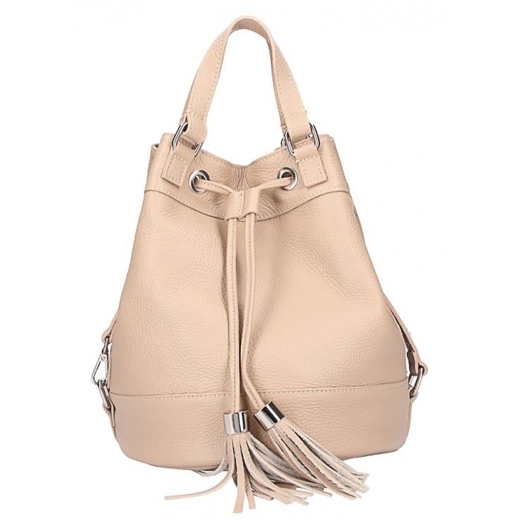 Leather Shoulder Bag 338 taupe