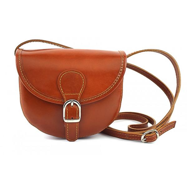 Talianska kožená kabelka 116B hnedá