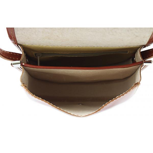 Talianska kožená kabelka 116B fuchsia