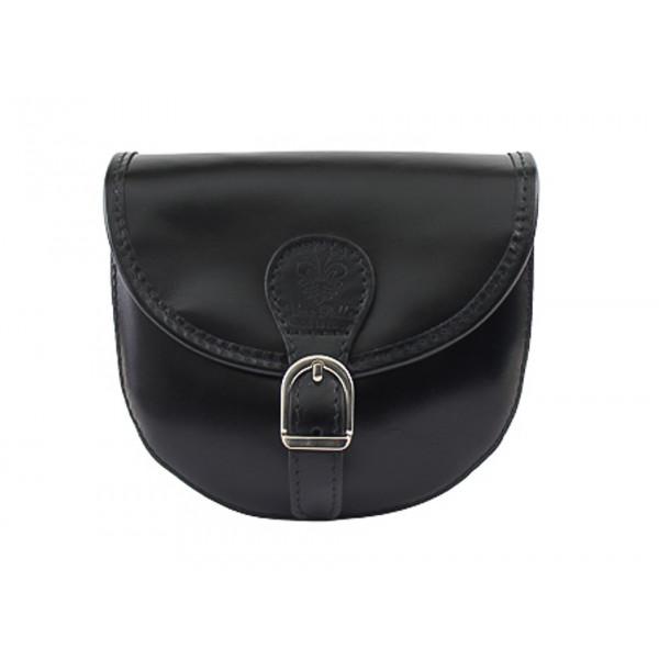 Talianska kožená kabelka 116B čierna