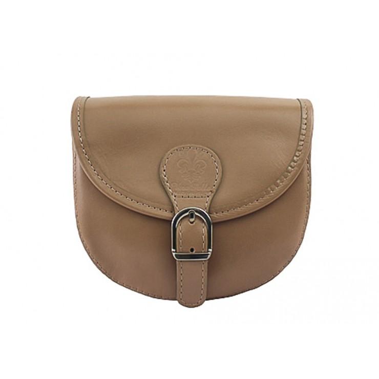 Talianska kožená kabelka 116B šedohnedá