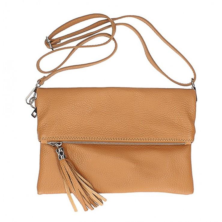 Genuine Leather Handbag 16003 cognac