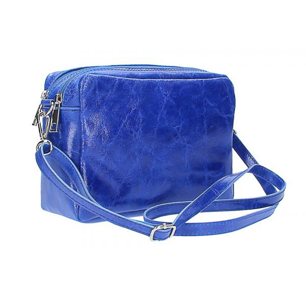 7d5c849105 Talianska kožená kabelka 16001 azurovo modrá - MONDO ITALIA s.r.o.