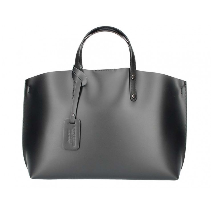 Genuine Leather Handbag 5304 black