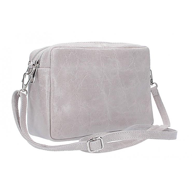 Talianska kožená kabelka 16001 šedá