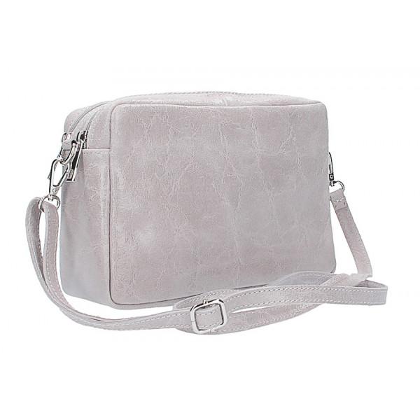 10d05e17e Talianska kožená kabelka 43 šedá - MONDO ITALIA s.r.o.