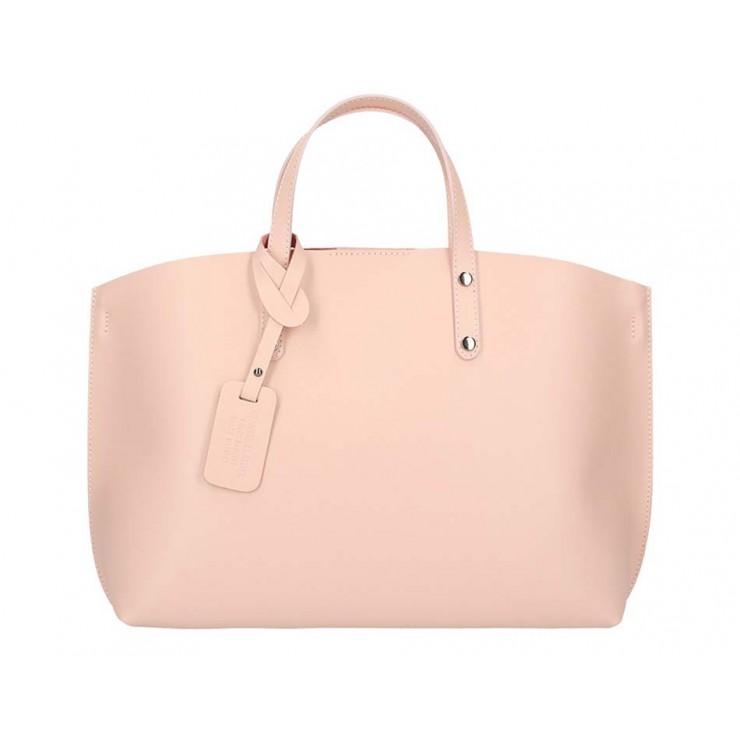 Ružová kožená kabelka do ruky 5304