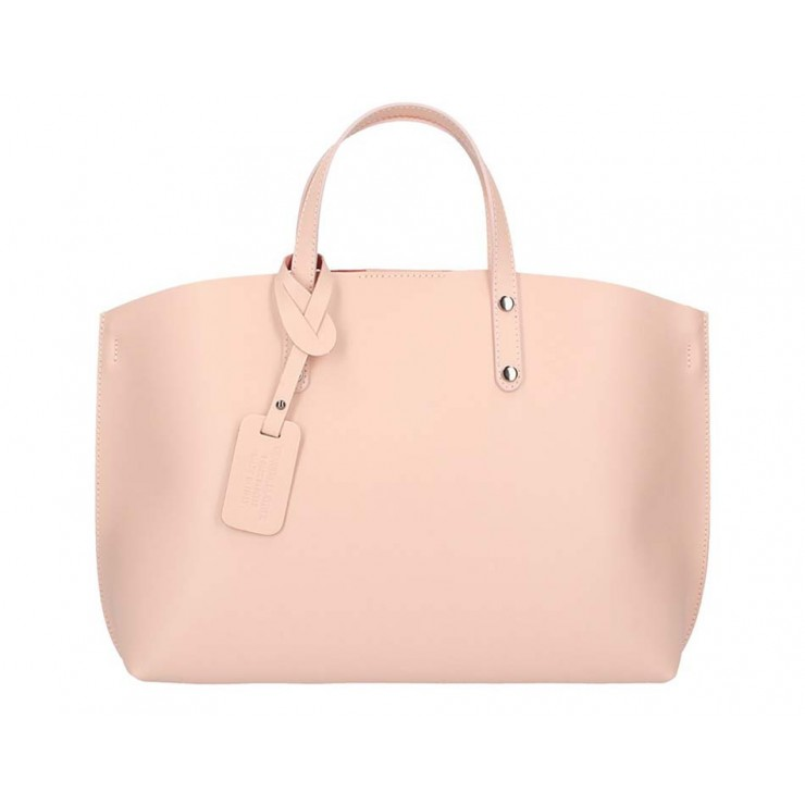 Genuine Leather Handbag 5304 pink