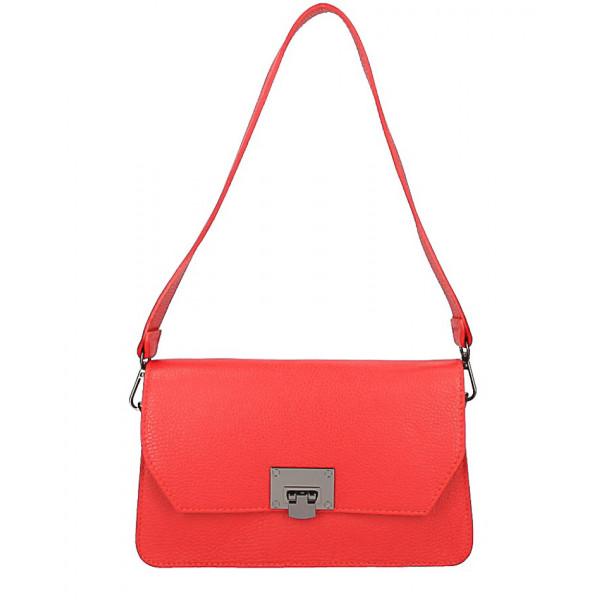 07c7f9dda Talianska kožená kabelka 16002 červená - MONDO ITALIA s.r.o.