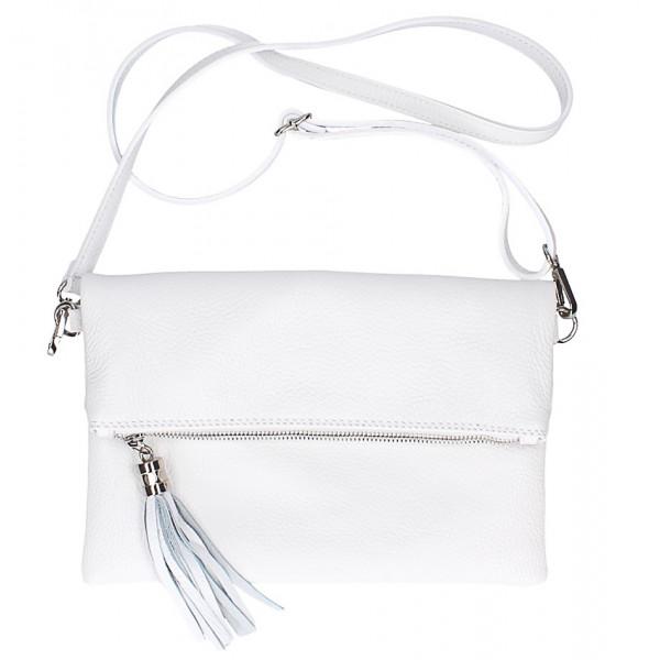 Kožená kabelka 668 biela