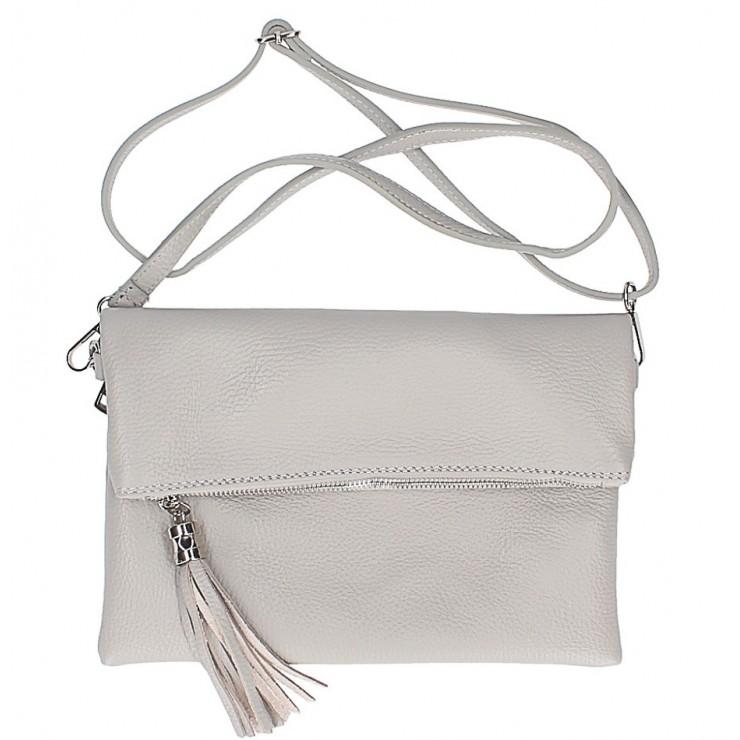 Kožená kabelka 668 šedá