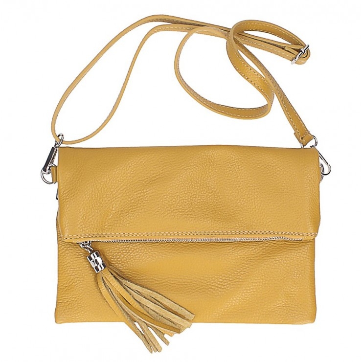 Genuine Leather Handbag 16003 mustard