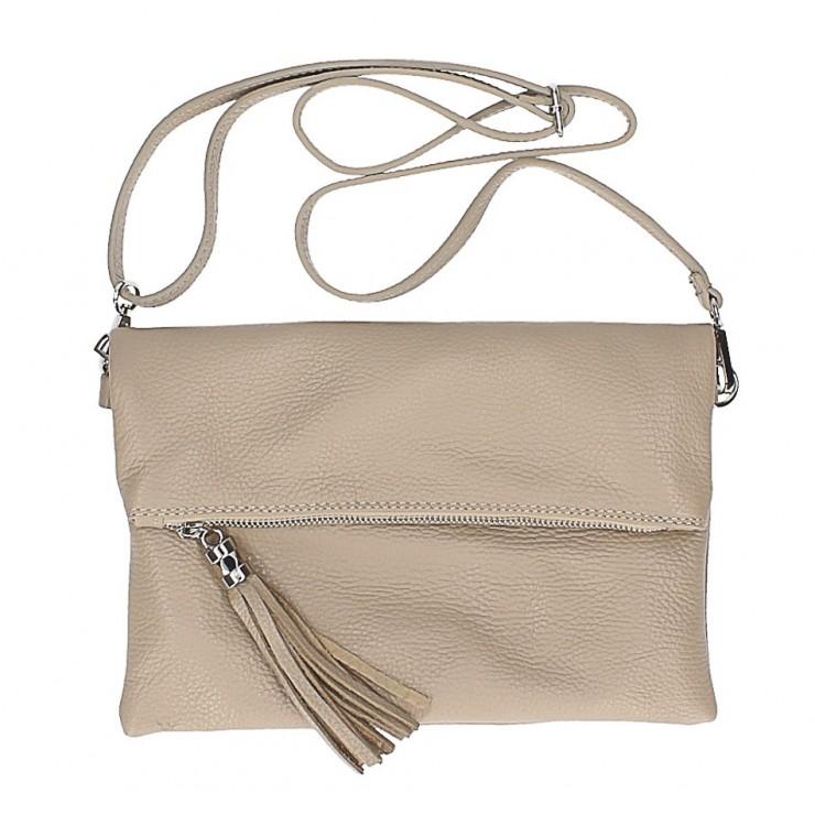 Genuine Leather Handbag 16003 taupe