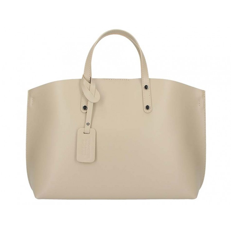 Genuine Leather Handbag 5304 taupe