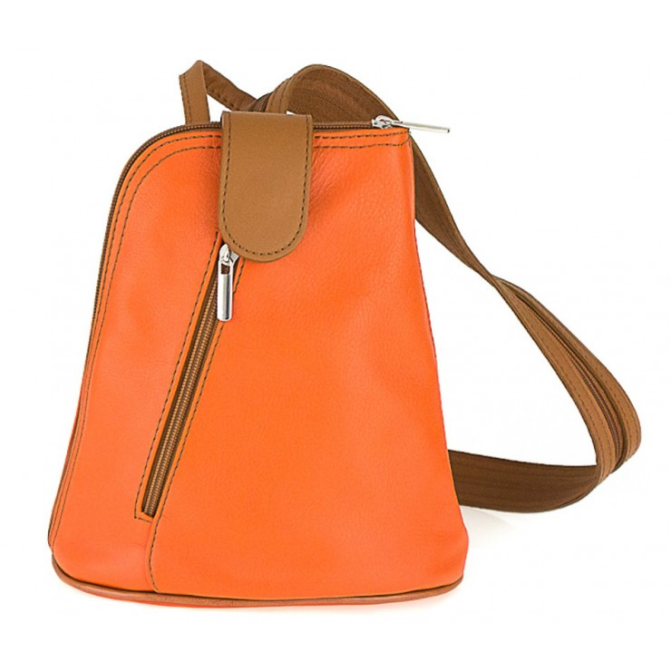 Kožený batoh 1083 oranžový