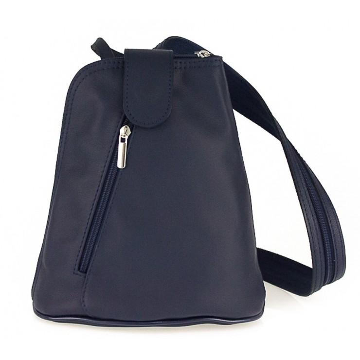 Kožený batoh 1083 modrý