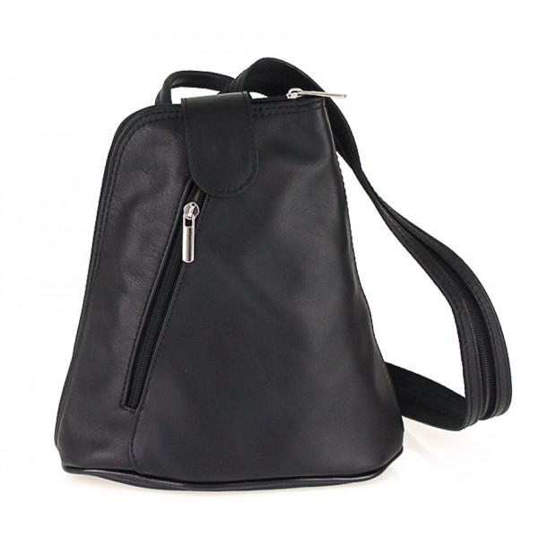 Kožený batoh 1083 čierny