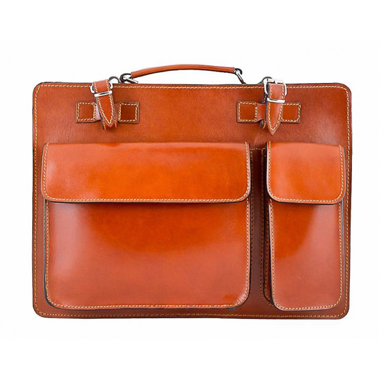 Leather Workbag 683 cognac