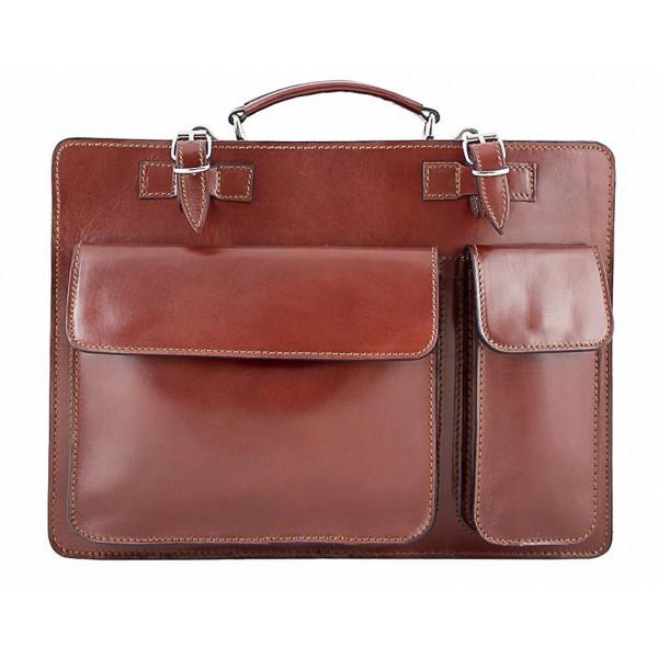 71738a6a1d7a Leather Workbag 683 brown - MONDO ITALIA s.r.o.