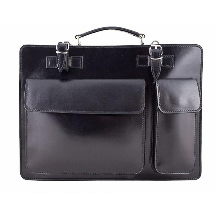 Leather Workbag 683 black