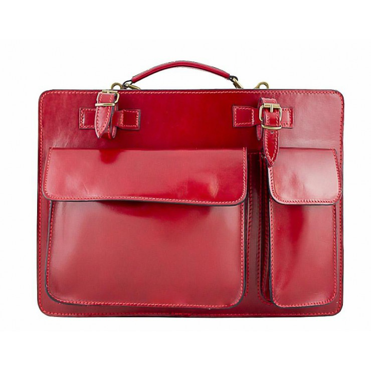 Leather Workbag 683 red