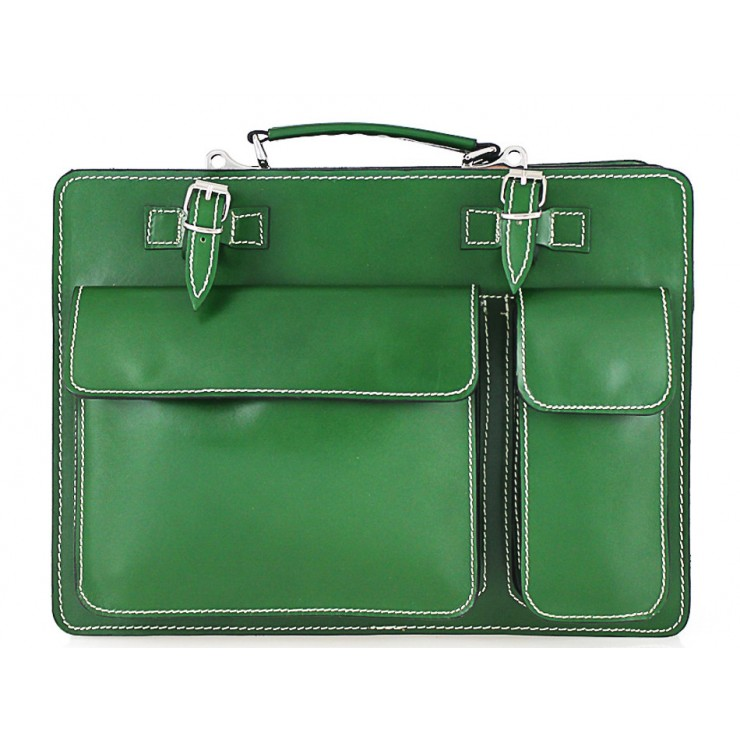 Leather Workbag 683 green