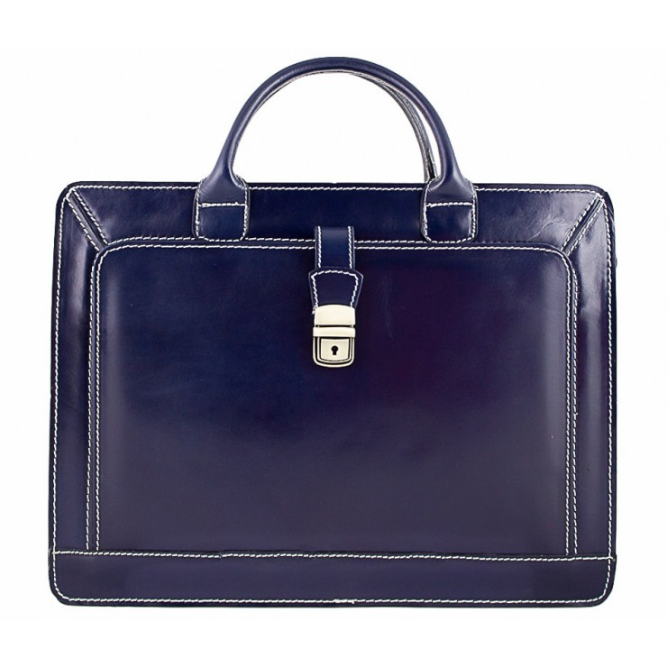 Leather Workbag 404 blue