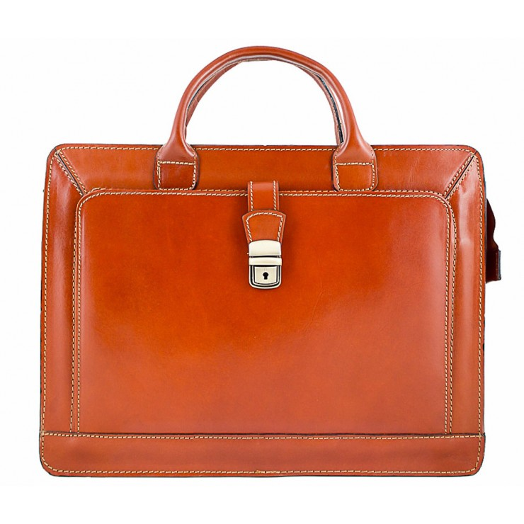 Leather Workbag 404 cognac