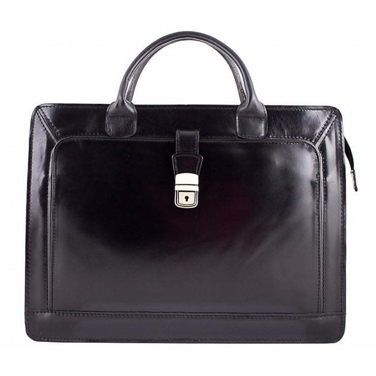 Leather Workbag 404 black