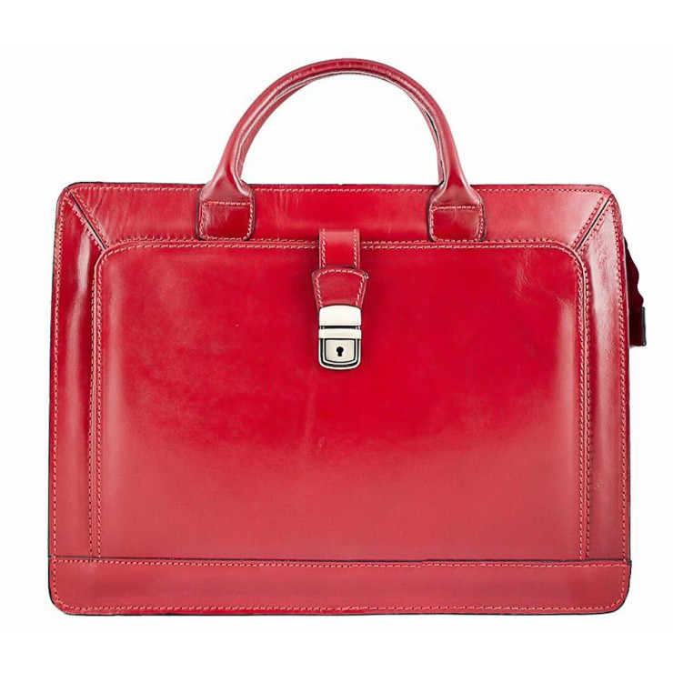 Leather Workbag 404 red
