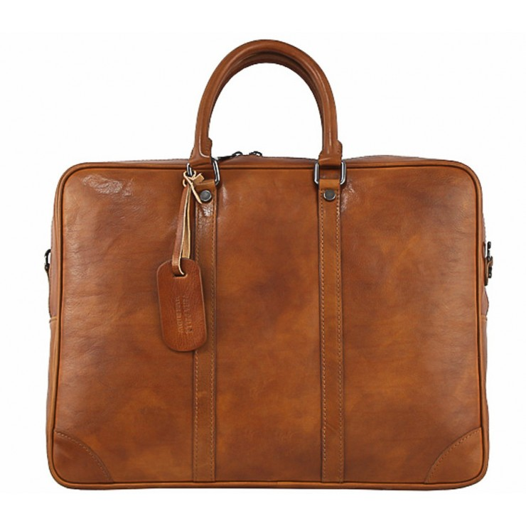Leather Messenger Bag 380 cognac