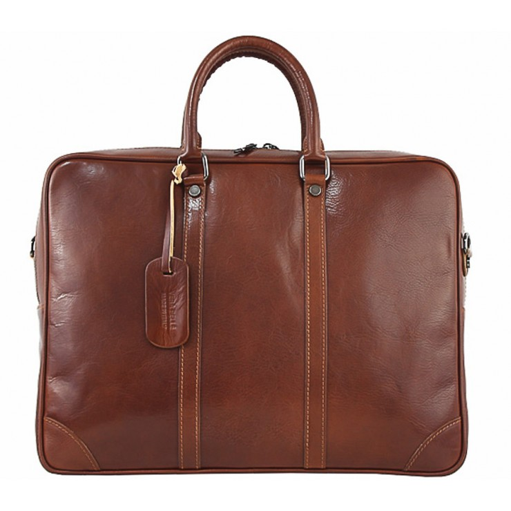 Leather Messenger Bag 380 brown