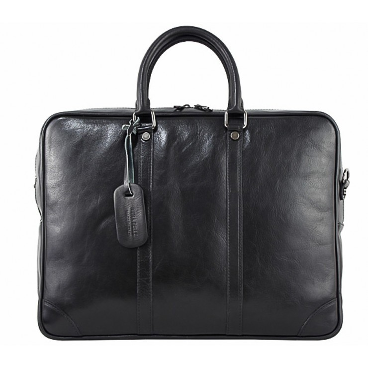 Leather Messenger Bag 380 black