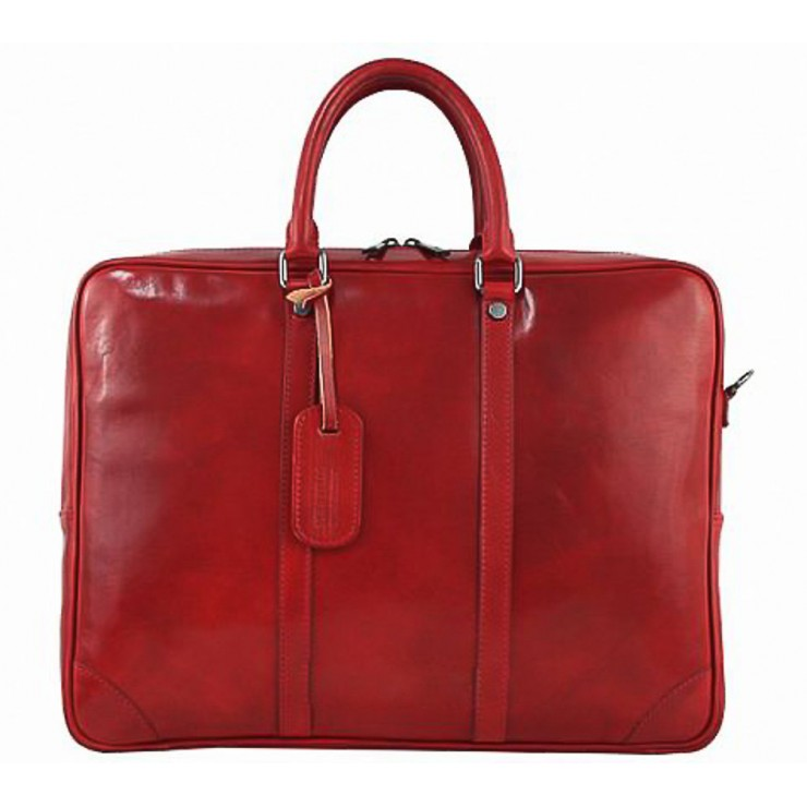 Leather Messenger Bag 380 red