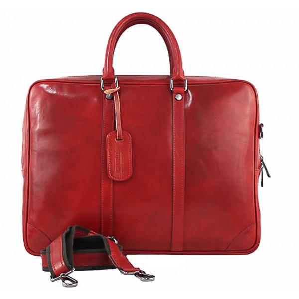 Kožená aktovka 380 červená Made in Italy Červená