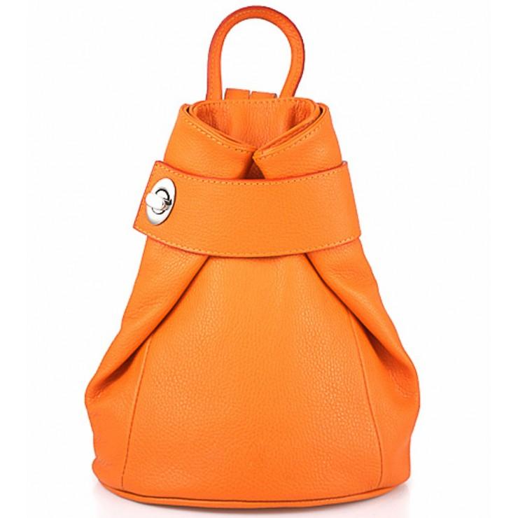Kožený batoh 443 oranžový
