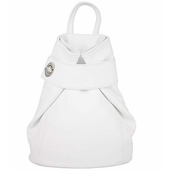 Kožený batoh 443 biely