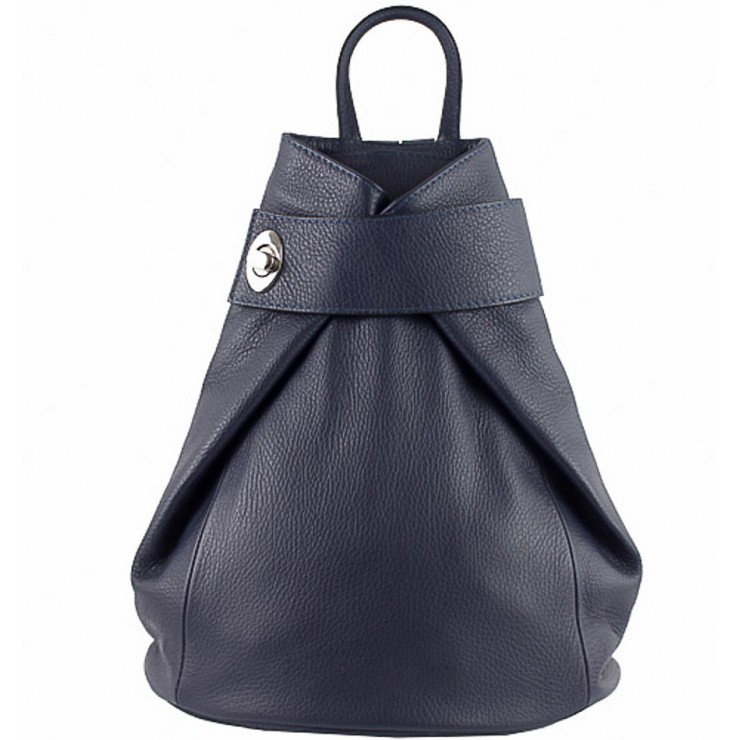 Leather backpack 443 blue