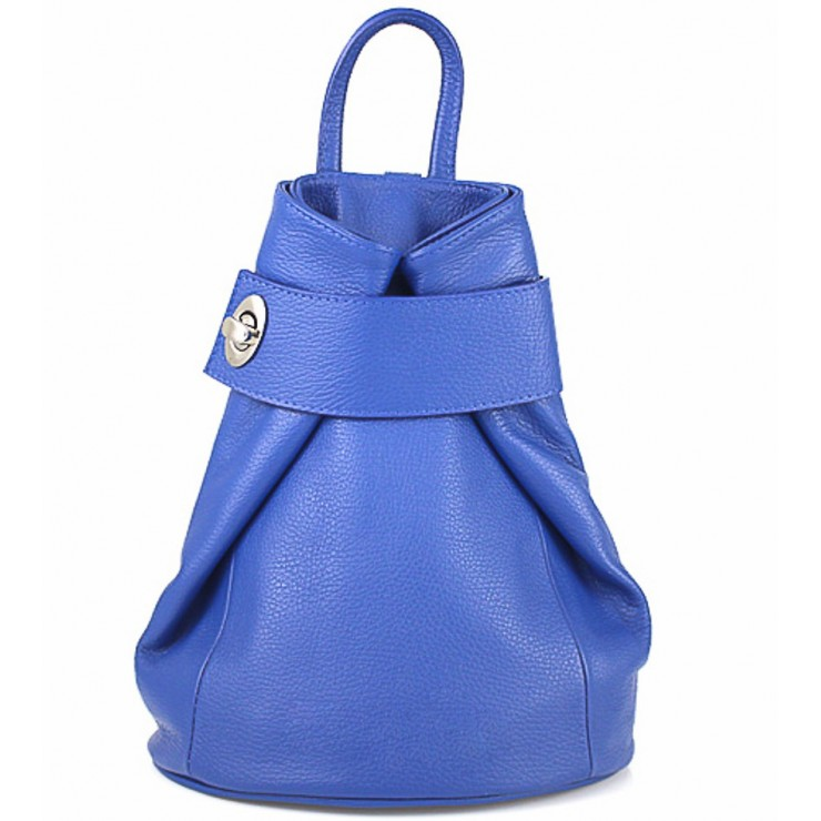 Leather backpack 443 bluette