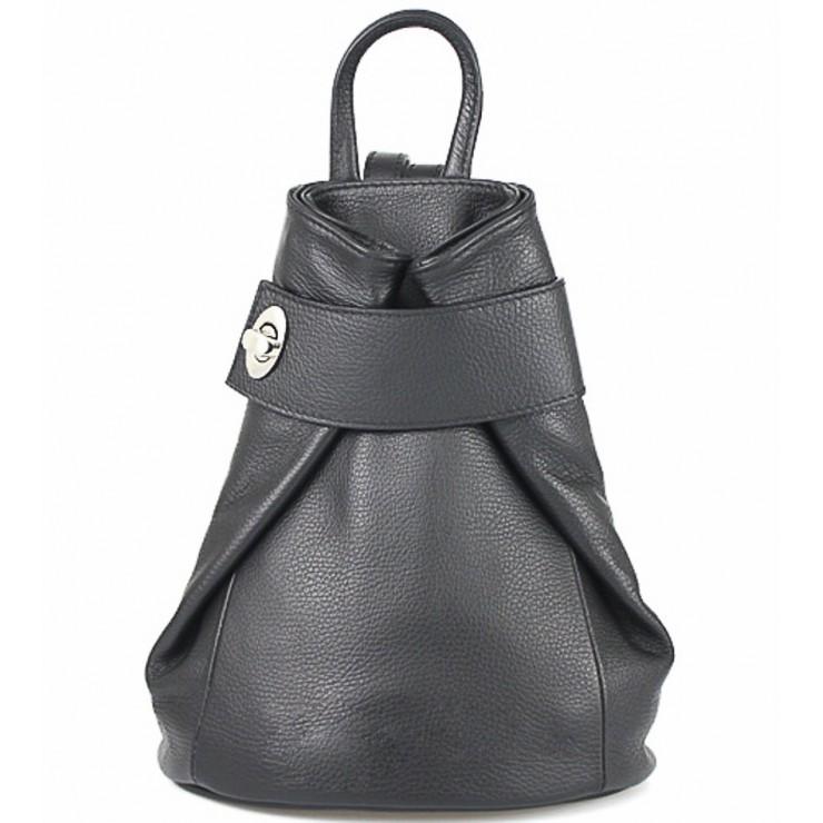 Kožený batoh 443 čierny
