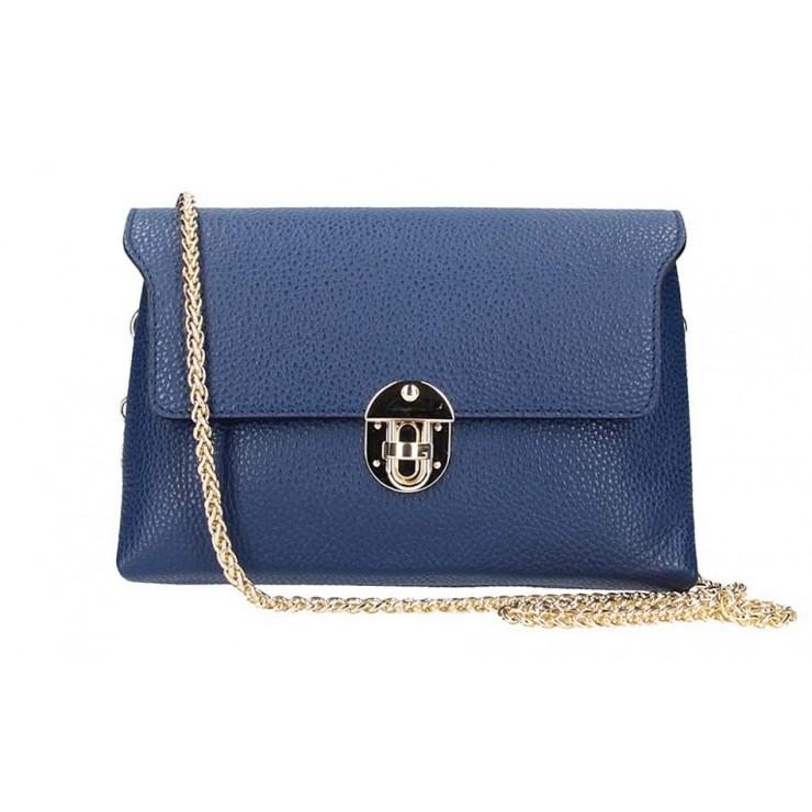 Leder Kuriertasche 5306 blau