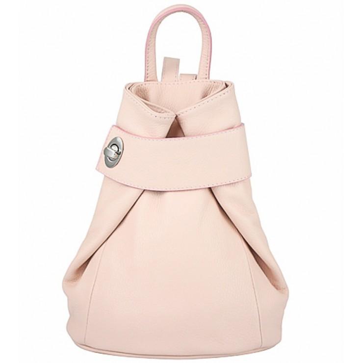 Kožený batoh 443 ružový