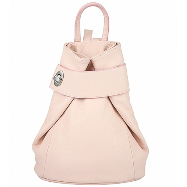 Leather backpack 443 pink