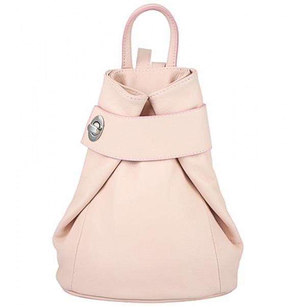 Kožený batoh 443  pudrovo ružový