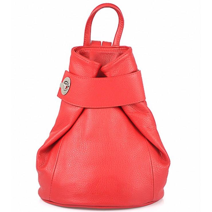 Kožený batoh 443 červený
