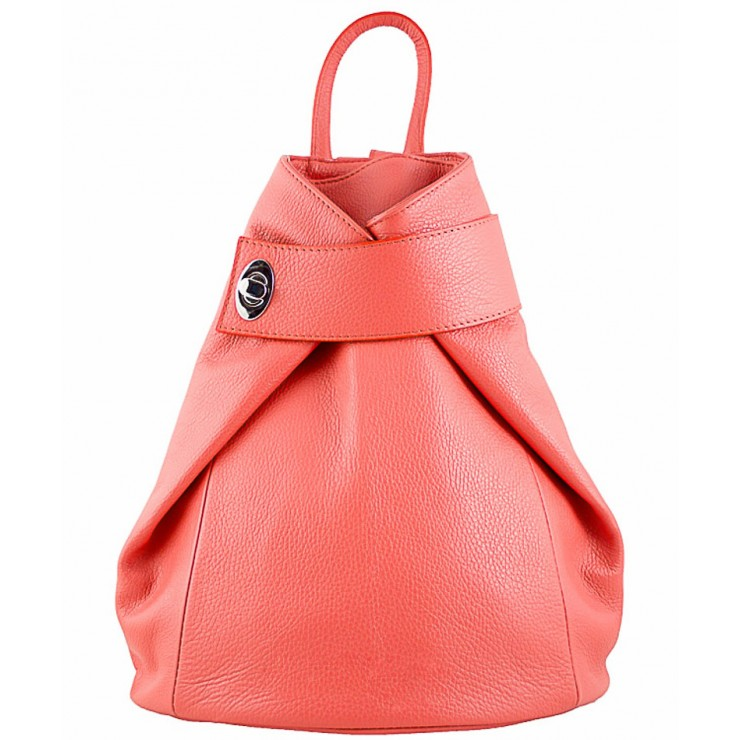 Leather backpack 443 salmon