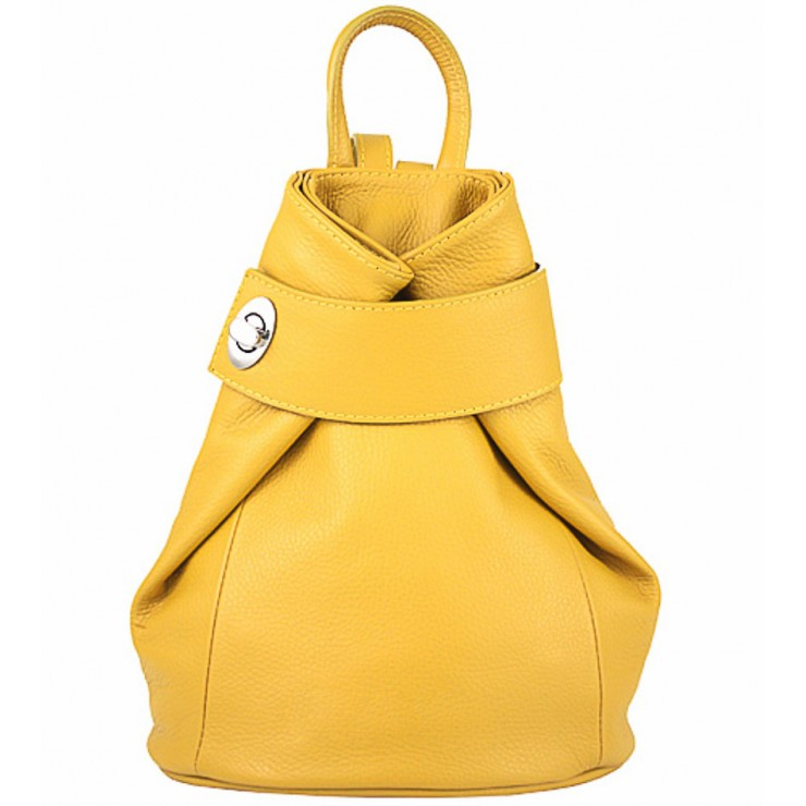 Leather backpack 443 mustard