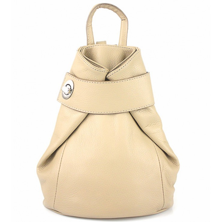 Leather backpack 443 taupe