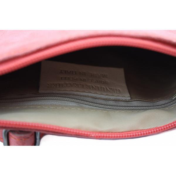 Kožená kabelka 750 fuchsia