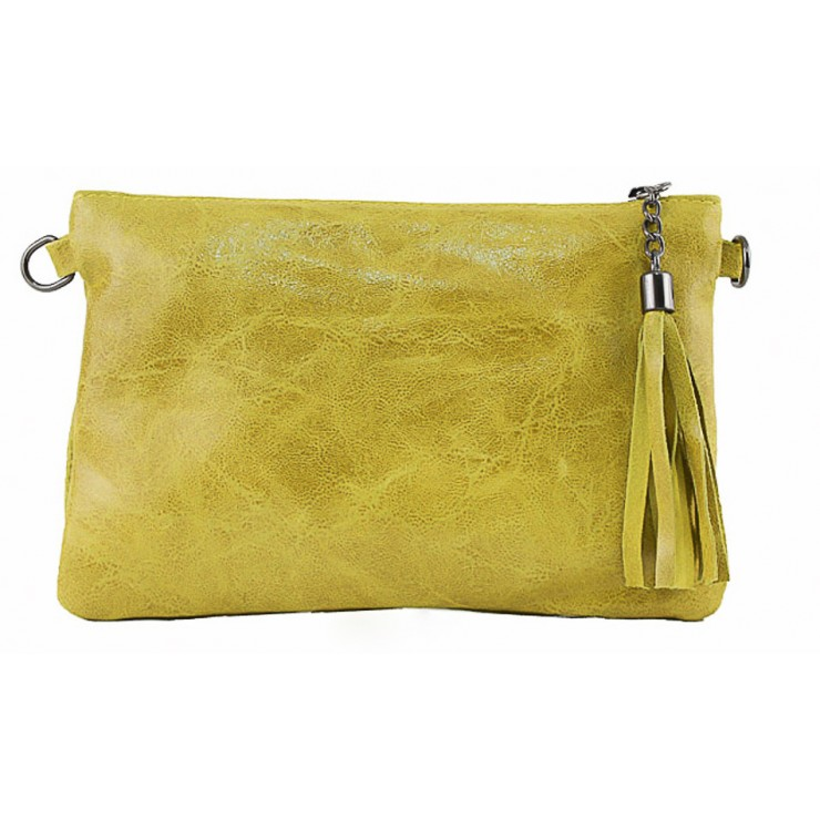 Genuine Leather Handbag 750 yellow
